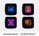 neon set of chart  face... | Shutterstock .eps vector #1250293417