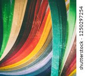 sheets of colored paper.... | Shutterstock . vector #1250297254