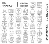 finance thin line signed icon... | Shutterstock .eps vector #1250299171