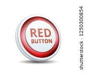 red button label illustration | Shutterstock .eps vector #1250300854