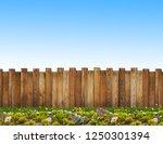 beautiful backyard with wooden... | Shutterstock . vector #1250301394