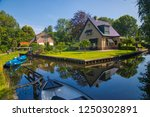 giethoorn  netherlands   july 4 ... | Shutterstock . vector #1250302891