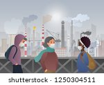 sad and unhappy people wearing... | Shutterstock .eps vector #1250304511