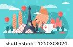 paris vector illustration... | Shutterstock .eps vector #1250308024