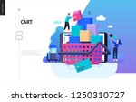 business series  color 2  cart  ... | Shutterstock .eps vector #1250310727