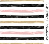 seamless doodle striped pattern.... | Shutterstock .eps vector #1250312344
