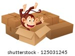 illustration of a smiling... | Shutterstock . vector #125031245