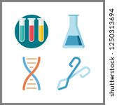 4 scientific icon. vector... | Shutterstock .eps vector #1250313694