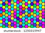 honeycomb many color ... | Shutterstock . vector #1250315947