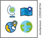 4 geography icon. vector... | Shutterstock .eps vector #1250318734