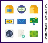 9 send icon. vector... | Shutterstock .eps vector #1250336197
