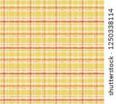 yellow watercolor gingham plaid.... | Shutterstock .eps vector #1250338114