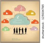 clouds business concept vintage ... | Shutterstock .eps vector #125034785
