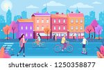 color town street road and... | Shutterstock .eps vector #1250358877