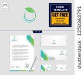 leaf eco fitness logo template... | Shutterstock .eps vector #1250363791