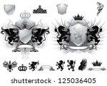 heraldry gray crest | Shutterstock .eps vector #125036405
