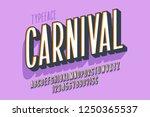 retro 3d display font design ... | Shutterstock .eps vector #1250365537