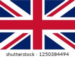 uk. union jack. flag of united... | Shutterstock .eps vector #1250384494