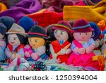 row of rag dolls in traditional ... | Shutterstock . vector #1250394004