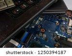 obsolete laptops isolated on... | Shutterstock . vector #1250394187