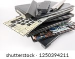 obsolete laptops isolated on... | Shutterstock . vector #1250394211