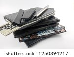 obsolete laptops isolated on... | Shutterstock . vector #1250394217