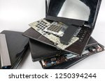 obsolete laptops isolated on... | Shutterstock . vector #1250394244