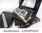 obsolete laptops isolated on... | Shutterstock . vector #1250394247