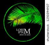 logo palm leaf | Shutterstock .eps vector #1250394937