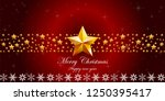 red christmas background with... | Shutterstock .eps vector #1250395417