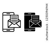 smartphone email line and glyph ...
