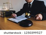 lawyer working with contract... | Shutterstock . vector #1250399527