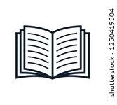 book icon vector logo template | Shutterstock .eps vector #1250419504