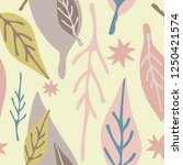 muted pastel colored leaves on... | Shutterstock .eps vector #1250421574