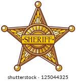 Vector sheriff's star (sheriff badge, sheriff shield)