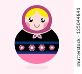 traditional russia doll ... | Shutterstock .eps vector #125044841