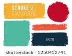 vector set of hand drawn brush... | Shutterstock .eps vector #1250452741