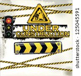 under construction  vector... | Shutterstock .eps vector #125045591