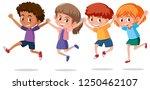 set of happy children... | Shutterstock .eps vector #1250462107