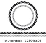 bicycle chain silhouettes | Shutterstock .eps vector #125046605