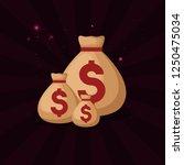 gamble casino concept | Shutterstock .eps vector #1250475034