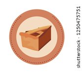 slice pie label design | Shutterstock .eps vector #1250475751