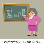 education blackboard old female ... | Shutterstock . vector #1250513761