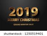 golden vector luxury text 2019... | Shutterstock .eps vector #1250519401