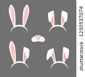 bunny ears mask set cartoon... | Shutterstock .eps vector #1250537074