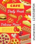 fast food cafe menu poster or... | Shutterstock .eps vector #1250538934