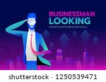 businessman with looking... | Shutterstock .eps vector #1250539471