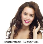 portrait of attractive ... | Shutterstock . vector #125054981