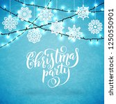 merry christmas party poster... | Shutterstock .eps vector #1250550901