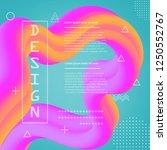 3d flow fluid shapes abstract... | Shutterstock .eps vector #1250552767